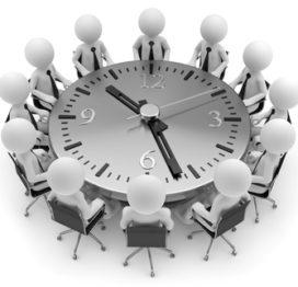 Zeitdruck Tischrunde